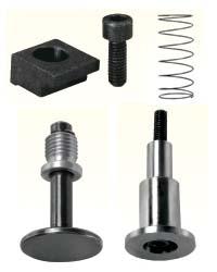 导柱用活动盖、弹簧、压板