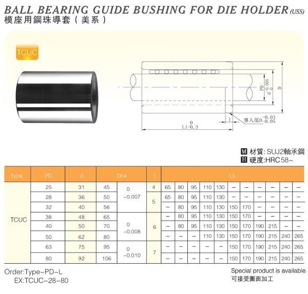 Ball-Bearing-Guide-Bushing-For-Die-Holder(Uss)